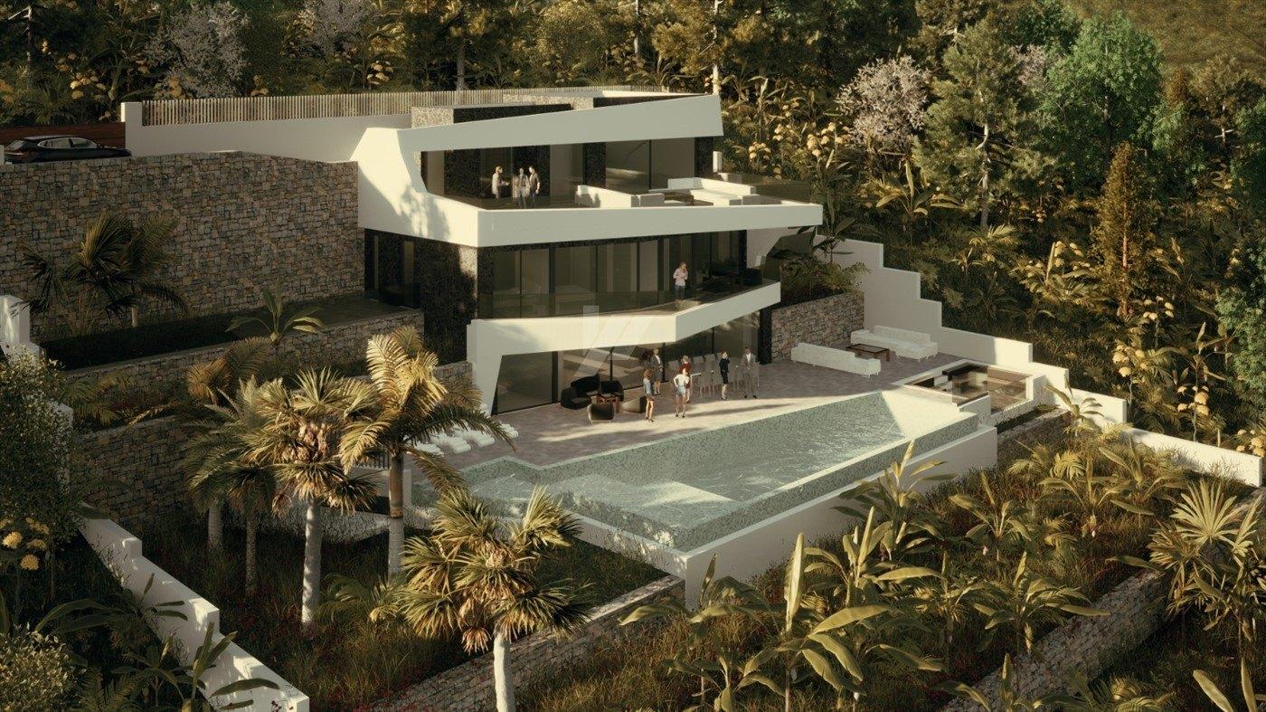 Villa de lujo con vistas al mar en venta en Benissa, Costa Blanca.
