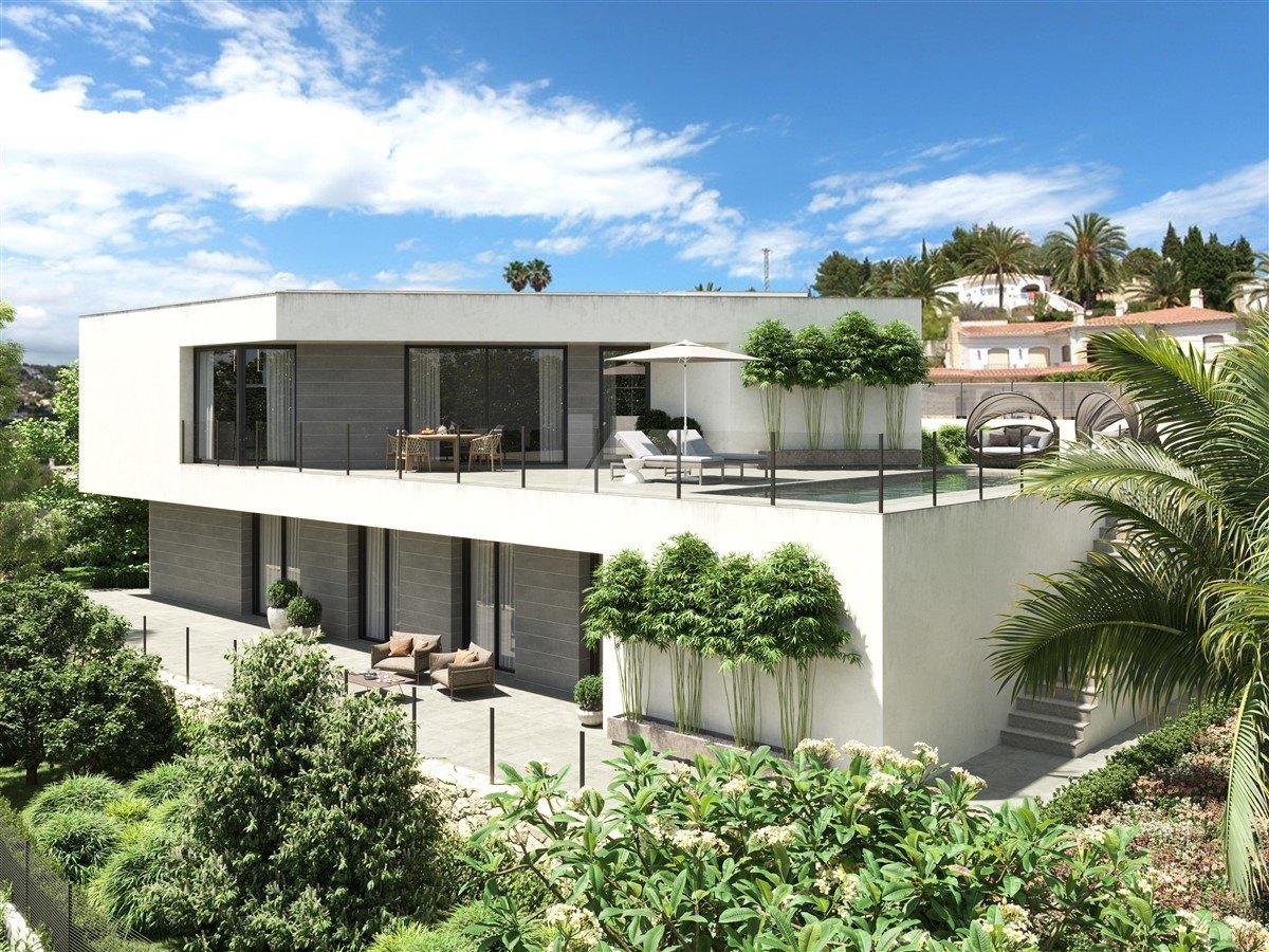 Villa con vistas al mar en venta en Calpe, Costa Blanca.